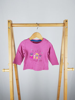 Mothercare baby girl long sleeve top 3-6 months