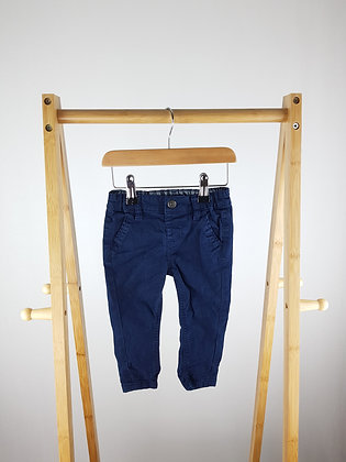 Denim Co navy trousers 9-12 months