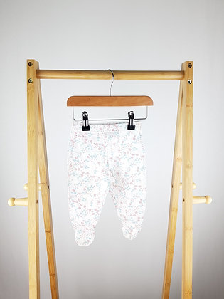 Chick pea floral bottoms with closed feet 6-9 months