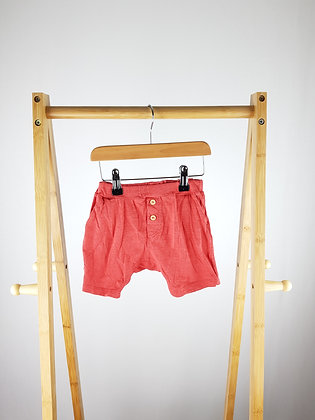 H&M red shorts 6-9 months
