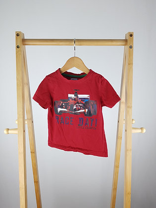 F&F red t-shirt 18-24 months