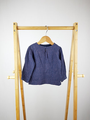 Vertbaudet spotted long sleeve top 12-18 months