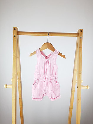 F&F pink romper up to 1 month