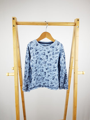 F&F blue animals long sleeve top 4-5 years