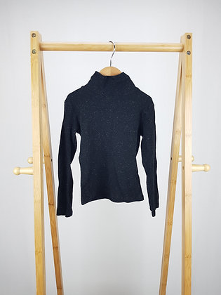 F&F ribbed roll neck long sleeve top 5-6 years
