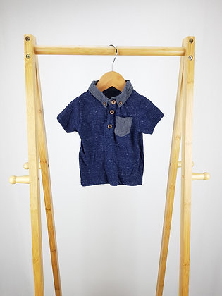 Early days navy polo shirt 9-12 months