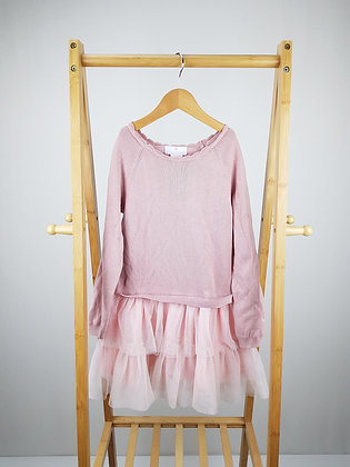 Lulurain pink long sleeve dress 6-7 years