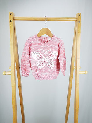 F&F butterfly knitted sweater 9-12 months
