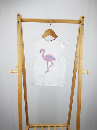 Young dimension sequin flamingo top 18-24 months