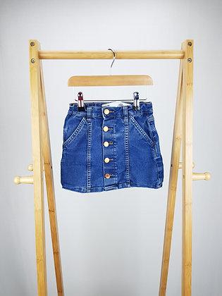 Denim Co buttoned denim skirt 5-6 years