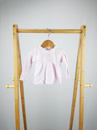 Babidu pink long sleeve top/sweater 9-12 months