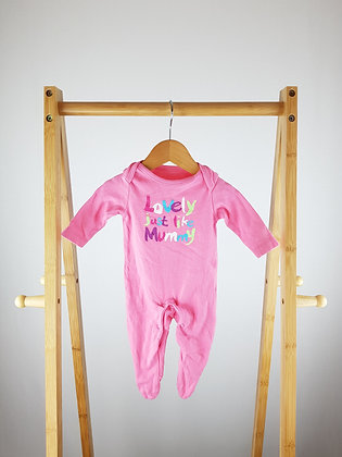 F&F pink babygrow up to 1 month