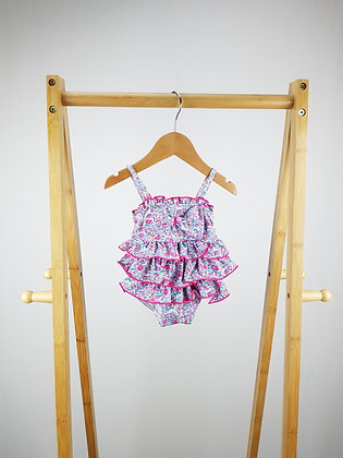 Monsoon floral layered swimsuit 0-3 months