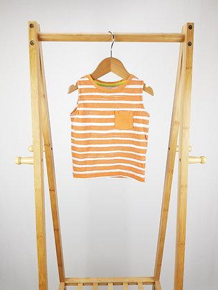 F&F striped vest top 12-18 months