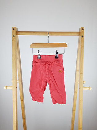 M&S red lined denim trousers 3-6 months
