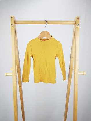 F&F mustard ribbed long sleeve top 18-24 months