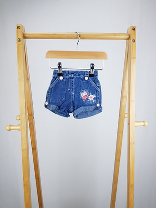 M&Co denim shorts 0-3 months