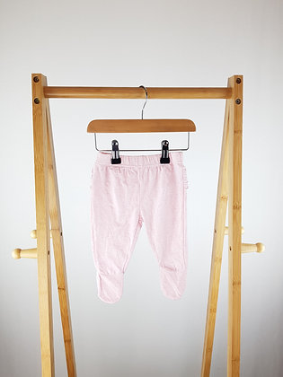 TU pink bottoms with closed feet 0-3 months