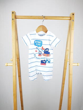 Bluezoo daddy & me romper 0-3 months