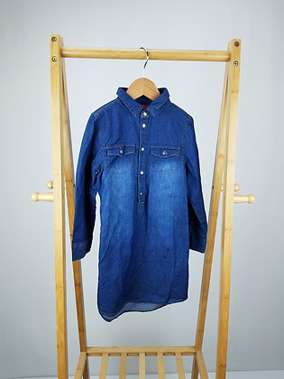 Young dimension long sleeve denim dress 4-5 years