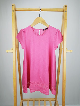 George pink long t-shirt 11-12 years