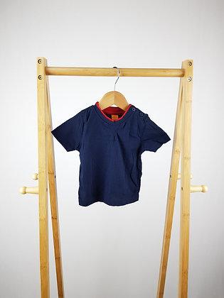 Mini mode navy t-shirt 6-9 months