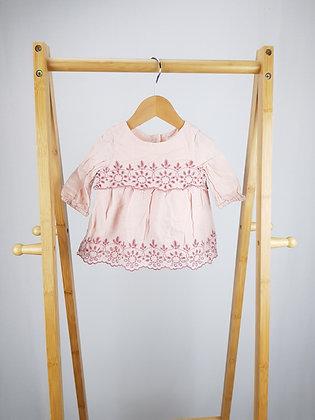 GAP pink blouse 0-3 months