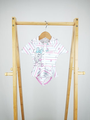 Disney Minnie Mouse hooded swimsuit 6-9 months