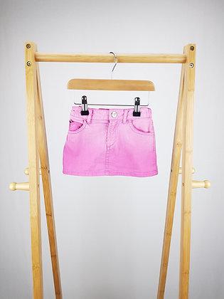 H&M pink denim skirt 18-24 months