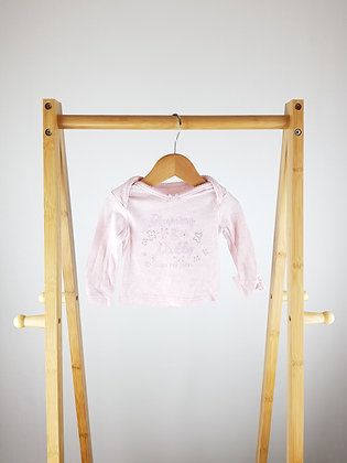 George pink long sleeve top first size