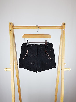 George black/rose gold shorts 4-5 years