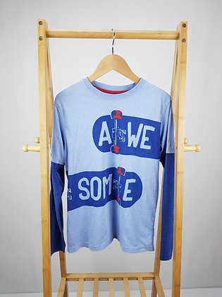 M&Co blue long sleeve top 12-13 years