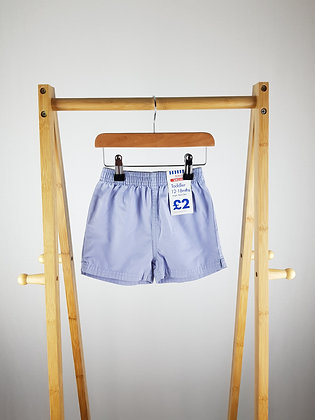 Tesco blue shorts 12-18 months