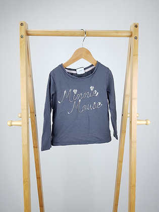 George Disney Minnie Mouse sequin long sleeve top 2-3 years