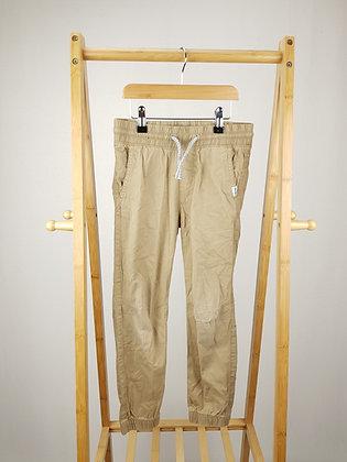 H&M beige cuffed trousers 7-8 years