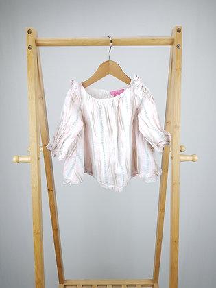 Isaac Mizrahi NY striped blouse top 1-2 years