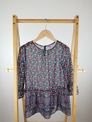 F&F floral sheer blouse 11-12 years