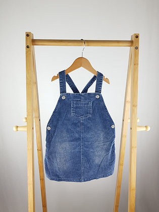 George blue cord pinafore dress 2-3 years