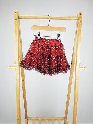 M&S red leopard print skirt 12-18 months