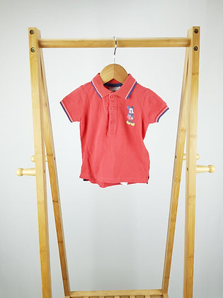 Disney store Mickey Mouse polo shirt 6-9 months