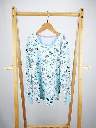M&S patterned long sleeve pyjama top 8-9 years