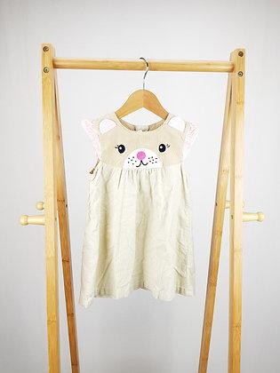 H&M cat corduroy dress 12-18 months
