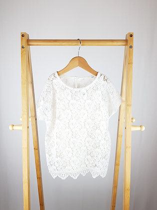 George cream lace top 8-9 years