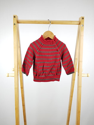John Lewis striped knitted sweater 3-6 months
