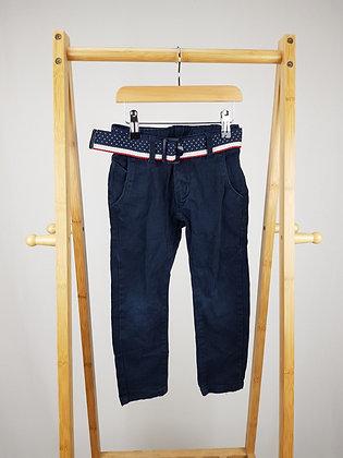 Boy studio navy denim trousers with belt 4 years