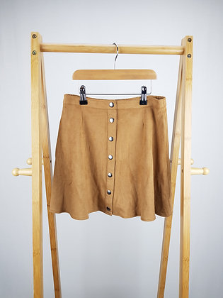 F&F buttoned faux suede skirt 11-12 years