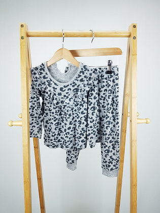 George leopard fine knitted 2pc set 12-18 months