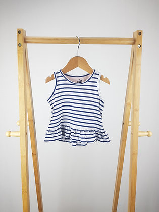 M&S striped top 18-24 months