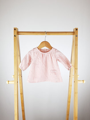 M&S pink blouse up to 1 month