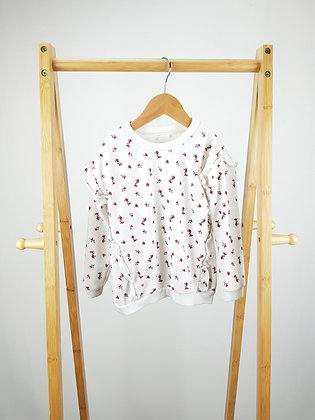 Matalan floral ruffle sweater 3-4 years